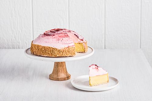 Mango Raspberry Cake Slice